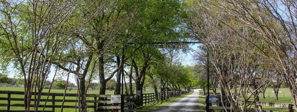 Quail Run Farm Entrance