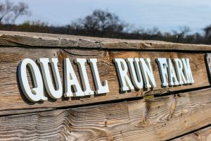 Quail Run Farm Sign