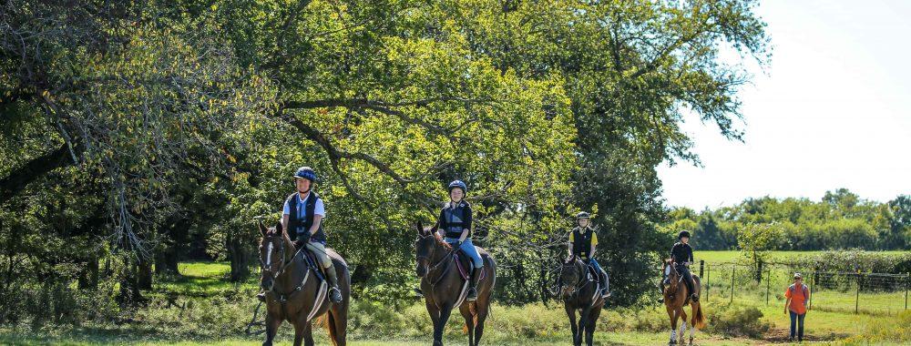 Riders at Quail Run Farm Equestrian Center